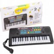 Orga Electronica cu 37 Clape Afisaj si Microfon pentru Copii Culoare Negru