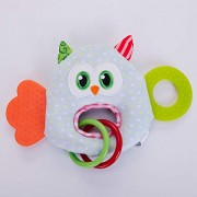 Owl Happy Monkey 0-3 Y Baby Rattles Hand Bell Toy Animals Plush Baby Rattle GIF