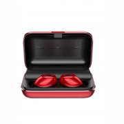JR-T07 Full Metal True Wireless TWS Earbuds Touch Control Bluetooth Earphones with Charging Box - Red
