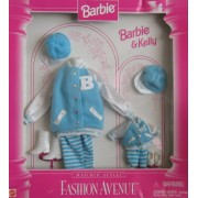 Barbie & Kelly Matchin Styles Fashion Avenue VARSITY FASHIONS Clothes (1996)
