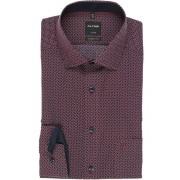 OLYMP Luxor Modern Fit Hemd rot/blau/weiß, Gemustert