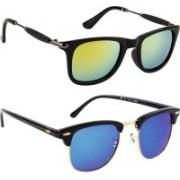 SP Wayfarer Sunglasses(Yellow, Blue, Golden)