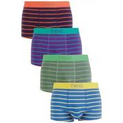 Next Bright Stripe Hipsters Four Pack - Multi Stripe - Mens