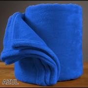 Pack x 2 Frazada Microfibra Lisa 1 1/2pl Twin 150x230 Aterciopelada AZUL