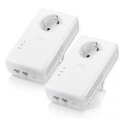 PowerLine Adapter, Zyxel PLA5456-TWIN, 2x AV2 1800Mbps MIMO Powerline Past-Thru Gigabit, Twin Pack (PLA5456-EU0201F)