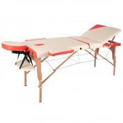 inSPORTline Fa Masszázs Asztal InSPORTline Japane - 3 Részes 9408/feher-narancssarga