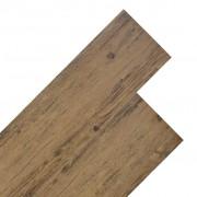 vidaXL Plăci de pardoseală, nuc maro, 5,26 m², 2 mm, PVC