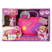 Figurina de catifea Kitty Club - Shop in a bag