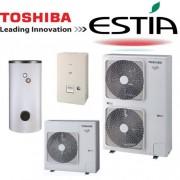 Toshiba HWS-1405H8-E - HWS-1405XWHT6-E Estia 3fázisú levegő-víz hőszivattyú 14 kW