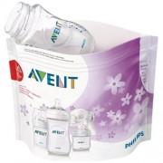 Philips AVENT - Pungi de sterilizare pentru cuptorul cu microunde, 5 buc