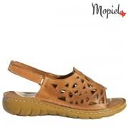 Sandale dama, din piele naturala 250306/Tabaco/Blanca