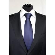 Pánská tmavě modrá klasická kravata - 8 cm