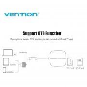 EY Vention USB 3.0 Lector De Tarjetas 5 En 1 Multi Memory Lector De Tarjetas Inteligentes SD TF CF MS-negro