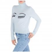 Chiara Ferragni Dolcevita collo alto maglione maglia donna flirting