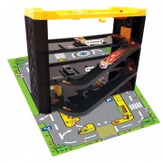 Set de joaca garaj cu covor, 3 niveluri, 40 x 15 x 31 cm, masina inclusa
