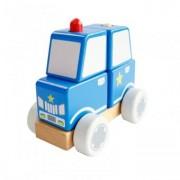 Masina de politie din lemn