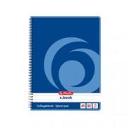 ORIGINAL Herlitz Articoli da ufficio 297515 Spiralblock liniert herlitz blocco a spirale , A5, 80 fogli, a righe, perforato, angoli arrotondati, carta senza legno, 70g/m² bianco