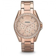 Fossil Riley Analog Rose Gold Dial Womens Watch - ES2811