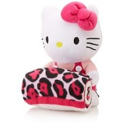 Hello Kitty Plush Doll with Leopard Fleece Blanket