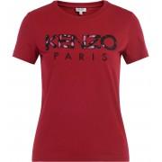 Kenzo T shirt Kenzo in cotone color ciliegia con logo frontale