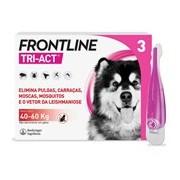 Tri-act para cães dos 40 aos 60kg 3pipetas - Frontline