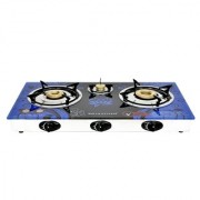 SURYA CRYSTAL AUTOMATIC 3 BURNER GAS STOVE COOKTOP