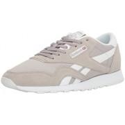 Reebok Men's CL Nylon Fashion Sneaker, Whispher Grey/White, 9. 5 M US