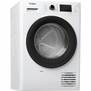 Uscator de rufe Whirlpool FT M22 9X2B EU, Cu pompa de caldura, 9 kg, 15 programe, Display, FreshCare+, Clasa A++, Blocare siguranta copii, Alb
