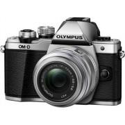Aparat Foto Mirrorless Olympus E-M10 Mark II + Obiectiv EZ-M1442 IIR, 16.1 MP, Filmare Full HD (Argintiu)