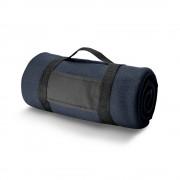 Patura de picnic din lana 150x120 cm, Everestus, BTS03, albastru, saculet de calatorie inclus
