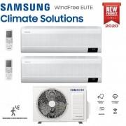 Samsung Climatizzatore Condizionatore Samsung Inverter Dual Split Windfree Elite 7000+7000 Con Aj040txj R-32 Classe A+++ Wifi - New 2020 7+7