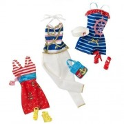 Barbie Fashionistas Day Looks Clothes - Nautical Sailor Outfits