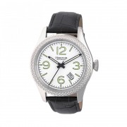 Heritor Automatic Barnes Leather-Band Watch w/Date - Silver HERHR7101