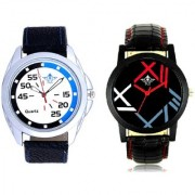 Exclusive Blue-Black Round And Fancy Roman Digit Men's Combo Analog Wrist Watch By Google Hub