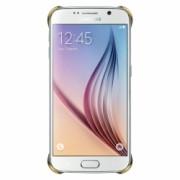 Samsung - EF-QG920BFEGWW - Husa capac spate Clear pentru Samsung Galaxy S6 - auriu