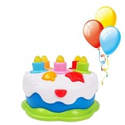 Friend&fun Musical Cake with Lights Music and Sounds - Happy Birthday Cake with Candles Pretend Play Food - Toys for Girls and Boys Kids or Toddlers_Multi Color.