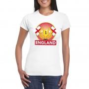 Shoppartners Wit Engeland supporter kampioen shirt dames