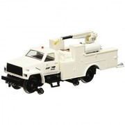 Bachmann Industries Maintenance of Way Hi Rail Equipment Truck with Crane DCC Equipped Norfolk Southern Train White HO Scale