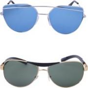 Amour-Propre Aviator, Cat-eye Sunglasses(Multicolor)