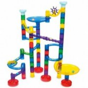 Set de constructie Super Marble Run Set reflectorizant 60 piese