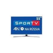 Smart TV LED 55 UHD 4K Samsung 55MU6400 com HDR Premium, Plataforma Smart Tizen, Controle Remoto Único, Design 360, Smart View, HDMI e USB