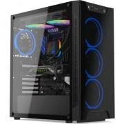 Carcasa SilentiumPC Armis AR6X TG RGB, Middle Tower, fara sursa, ATX, Black