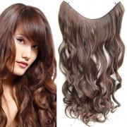 Flip in vlasy - vlnitý pás vlasů 55 cm - odstín M2/30 - Světové Zboží