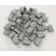 Plastic Hotels: Grey Color Monopoly Replacement Hotel (Colored Miniature Town & City Buildings, Board Game Playing Pieces)