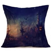 Halloween Decoration Pattern Car Sofa Pillowcase with Decorative Head Restraints Home Sofa Pillowcase H Size:43*43cm -HC3203H