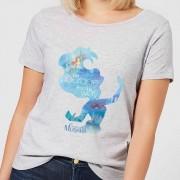Disney Camiseta Disney La Sirenita Silueta Ariel - Mujer - Gris - S - Gris