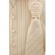 Béžová svatební vesta s kravatou a kapesníčkem Avantgard 552-66-52