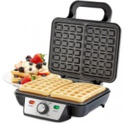 Aparat waffle Andrew James Belgian Waffle Maker AJ001331, 2 Felii, 1000 W, Temperatura Ajustabila