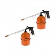 Set Pistola di soffiaggio/lavaggio/nebulizzatore canna lunga e serbatoio da 900ml ad aria compressa 2pz