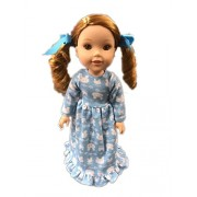 My Brittany's Bunny Nightgown For American Girl Dolls Wellie Wishers